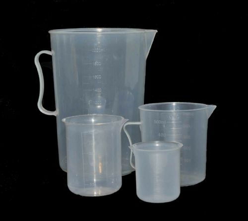 Graduated Beaker Chemical Measuring Jug Set 2000/500/300/100ml